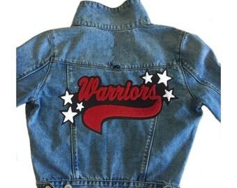Custom Denim Jacket with Star Name Patch