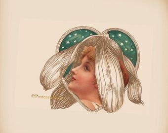 Art Nouveau Lady - New 4x6 Vintage Image Photo Print - IL135