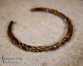 Twist Copper  Bracelet Bangle