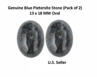 100% Natural Blue Pietersite Cabochon 13 x 18 MM Oval (Pack of 2)
