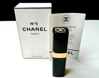 Vintage CHANEL Nº 5 Pure Perfume Purse Spray 1980s .25 oz  7.5 ml Full Original Presentation Case and Literature