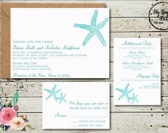 STARFISH Wedding Invitation - Digital