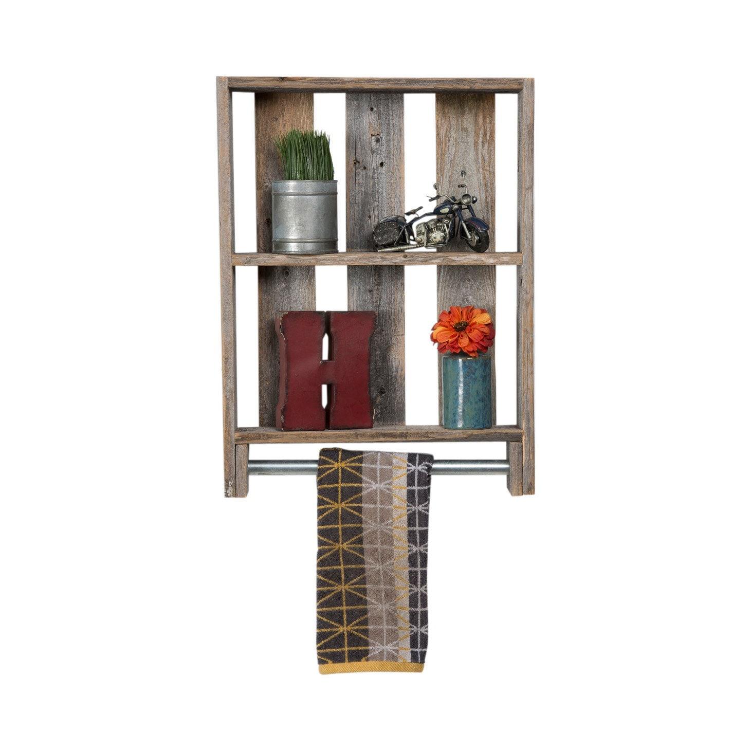 Wooden Shelves For Bathroom: Reclaimed Wood Bathroom Shelf