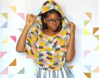 The Traveling Crochet Cape with Hood Crochet Pattern. Instant Download!