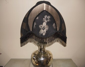 Lamp Shade, Lamp, Table Lamp, One of Kind Handmade Lampshade Design - CLASSIC SILVER ELEGANCE
