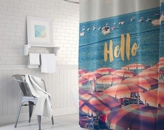 Ocean shower curtain | Etsy