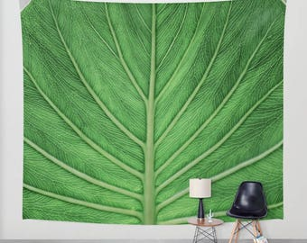 Wall Hanging Tapestry - Veins of Life: Ecuador [Amazon Rainforest Vivid Art Tropical Leaf Plant Nature Namaste Zen Yoga Believe]