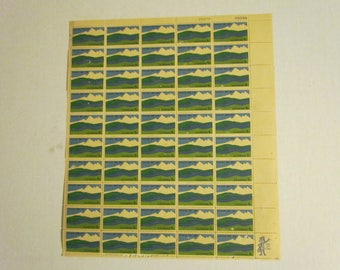 sheet of 50 5 cent U.S. postage stamps. Canada centenial
