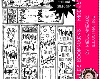 LDS Bookmarks clip art - Printable - Modesty