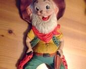 Vintage Stinky Pete style Cowboy Joe Rempel squeeze toy