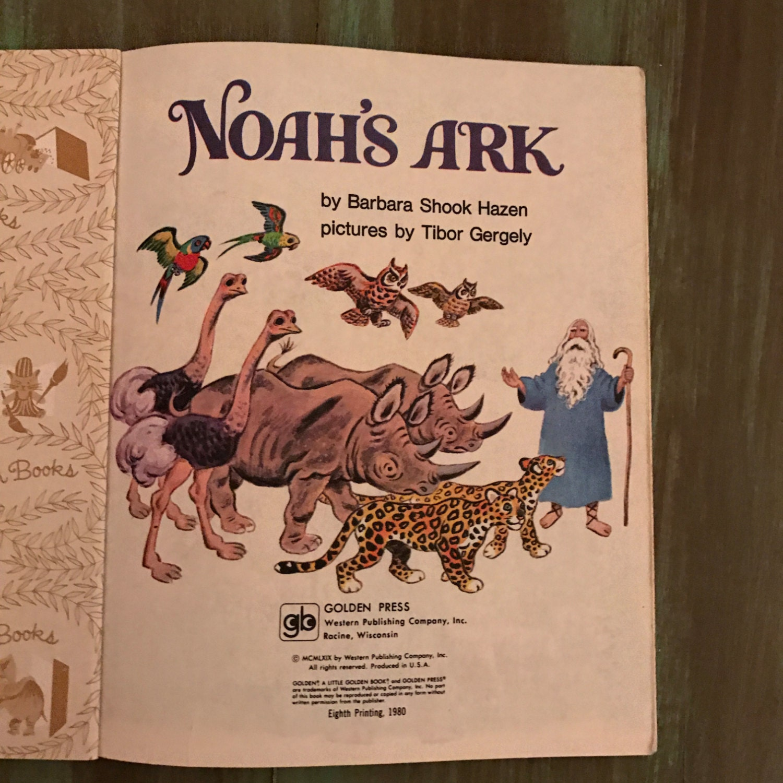 noah u0027s ark little golden book vintage children u0027s christian book