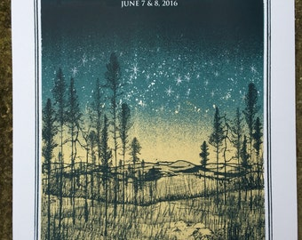 The Lumineers - Red Rocks Amphitheatre show gig posters.