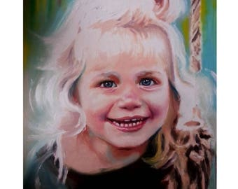 Custom Portrait Painting Oil Painting Child Portrait Family Wedding Portrait From Photo Abstract Portrait - Canvas - Original Personalized