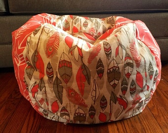 SALE!! OOAK Arrow Feather Bean Bag, cover only