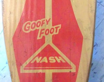 1960s Goofy Foot Vintage Skateboard *Price Includes Domestic Shipping