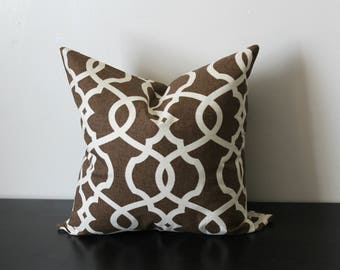Decorative Throw Pillow Cover, Brown Pillow Cover, Throw Pillow, Toss Pillow, Geometric Pillow, Accent Pillow, Lumbar Pillow, 12x18, 12x20