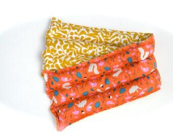 Organic Herbal Heating Pad Organic flannel Organic orange woodland squirrel microwavable Hot pack