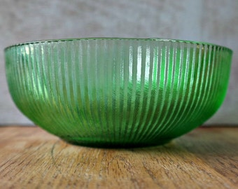 E.O. Brody Green Glass Bowl
