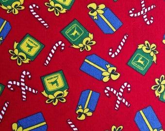 "John Deere Christmas 3 yd. x 44"""