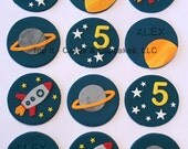 Fondant Cupcake Toppers - Space