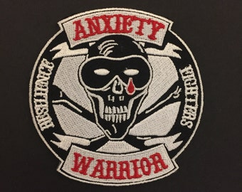 Anxiety Warrior patches and Stickers
