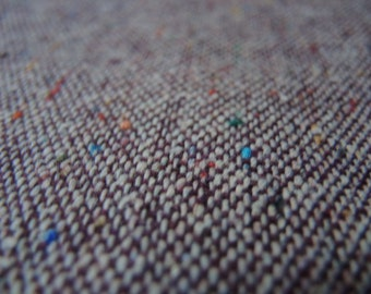 Vintage wool fabric brown with colorful speckles light weight suiting wool 61 inches wide BTY