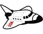 Shuttle Rocket Jet no flame APPLIQUE Embroidery Design 7 Sizes INSTANT DOWNLOAD