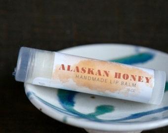 Alaskan Honey Lip Balm, Handmade in Alaska, Lip Gloss, Lip Moisturizer, Chapstick, Gift for Her, Gift for Him, Valentine's Day Gift