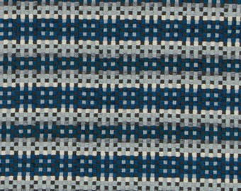 Peacock Blue Woven Upholstery Fabric Light Blue And Grey Fabric Modern Woven Home Decor