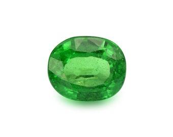 1.25ct Tsavorite Green Garnet Oval Shape Loose Gemstones (Watch Video) Free Shipping SKU 487B002
