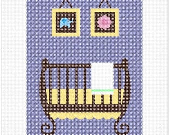 Needlepoint Kit or Canvas: Uni Baby Crib