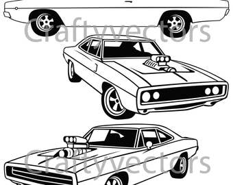 Dodge Charger 1970 Vector File