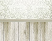Damask Faux and Natural Wood All-in-One 3'x4'