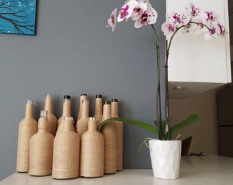 Linen Twine Wrapped Vases