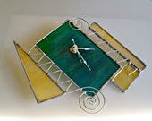Stained Glass Clock Wall Clock Office Decor Office Gift Funky Home Decor Fun Gift