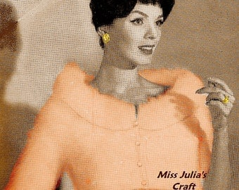 Almost FREE Vintage 1950s Angora Knit Bolero # 332  PDF Digital Knit Pattern
