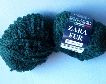 Yarn Sale  -  Hunter Green 11 Zara Fur by  Filatura Di Crosa Yarn