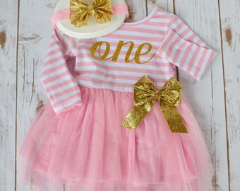 Cake Smash Outfit Girl, Baby Girl 1st Birthday Outfit, 2nd Birthday Outfit Girl, 1st Birthday Girl Outfit, Pink and Gold 1st Birthday, Tutu