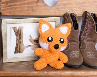 Fox Stuffed Animal - Ready to Ship - Fox Plush - Crochet Fox