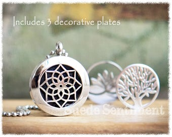 Aromatherapy Necklace • Best Friend Gift • Oil Diffuser Jewelry • Tree of Life Pendant • Yoga Jewelry