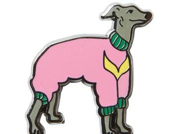 Italian Greyhound Enamel Pin