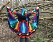 Recycled Sweater Rainbow Cardigan Coat
