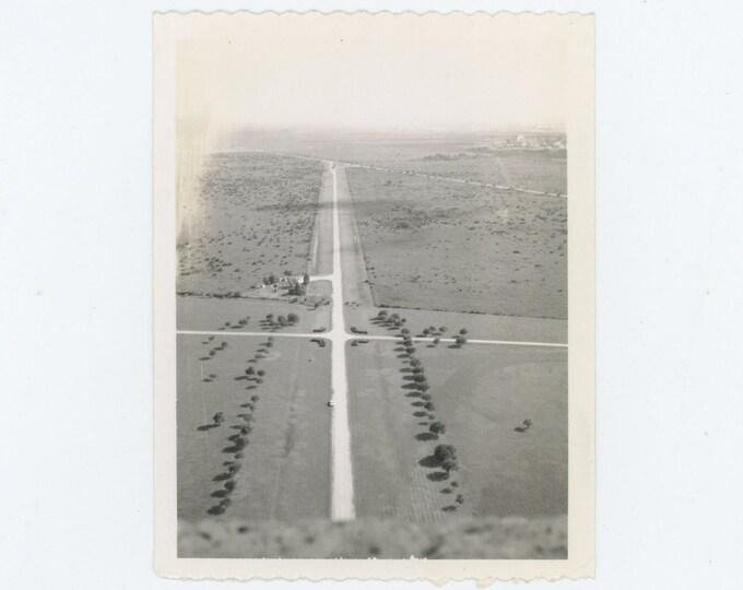 Vintage Polaroid Snapshot Photo: Intersection, c1950s-60s (71542)