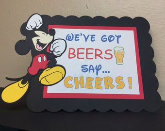 We've Got Beers, Say Cheers! Party table sign