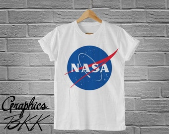 NASA T-Shirt Unisex T-Shirt alien face nasa shirt slogan galaxy rocket area 51 T-Shirt nasa logo unisex tee (S-XL) Free Shipping