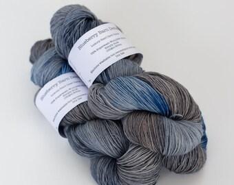 Hand Dyed Yarn - Sturdy Sock 4ply, Superwash Wool/Nylon 75/25 - Dirty Denim