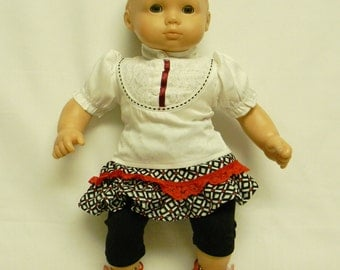 Skirt & Blouse For 16 Inch Doll Like Bitty Baby
