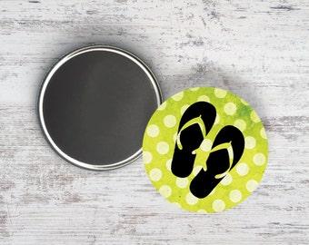 """Polka Dot Flip Flops 2.25"""" Magnet"""