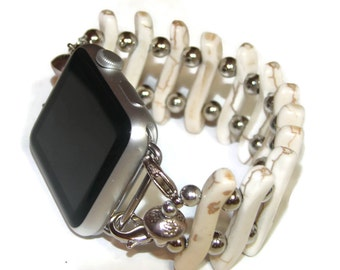 Off-White Apple Watch Band - Interchangeable Apple Watch Band - Apple Watch Band - 38 mm or 42 mm watch - BeadsnTime - Unique Gift