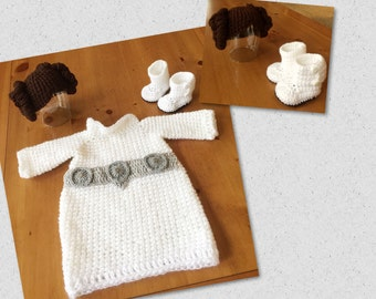 Baby Princess Leia photo prop/halloween costume